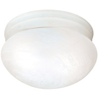 Signature 2 Light 10 inch Textured White Flushmount Ceiling Light