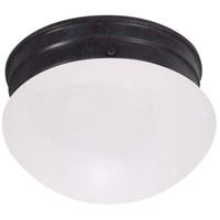 Nuvo Lighting Signature 1 Light Flush Mount in Mahogany Bronze 60/2641