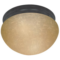 Nuvo 60/2646 Signature 2 Light 10 inch Mahogany Bronze Semi-Flush Mount Ceiling Light