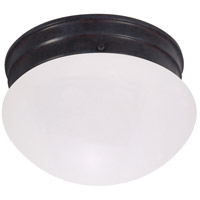 Signature 1 Light 6 inch Mahogany Bronze Flush Mount Ceiling Light