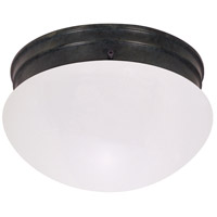Signature 2 Light 8 inch Mahogany Bronze Flush Mount Ceiling Light