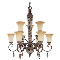 Nuvo Lighting Palermo 9 Light Chandelier in Cappuccino 60/2703 photo thumbnail