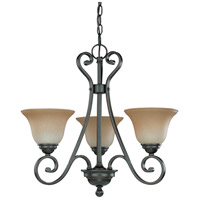 Montgomery 3 Light 22 inch Sudbury Bronze Chandelier Ceiling Light
