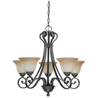 Nuvo Lighting Montgomery 5 Light Chandelier in Sudbury Bronze 60/2742