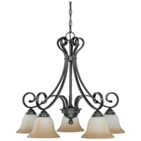 Montgomery 5 Light 27 inch Sudbury Bronze Chandelier Ceiling Light