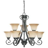 Nuvo Lighting Montgomery 9 Light Chandelier in Sudbury Bronze 60/2744