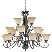 Nuvo Lighting Montgomery 15 Light Chandelier in Sudbury Bronze 60/2745
