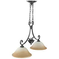 Montgomery 2 Light 35 inch Sudbury Bronze Trestle Ceiling Light