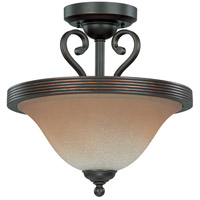 Montgomery 2 Light 15 inch Sudbury Bronze Semi-Flush Ceiling Light