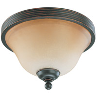 Montgomery 2 Light 11 inch Sudbury Bronze Flushmount Ceiling Light