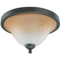 Montgomery 3 Light 15 inch Sudbury Bronze Flushmount Ceiling Light