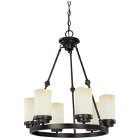 Nuvo Lighting Lucern 6 Light Chandelier in Patina Bronze 60/2761 photo thumbnail