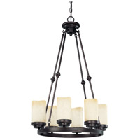 Nuvo Lighting Lucern 6 Light Chandelier in Patina Bronze 60/2762 photo thumbnail
