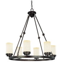 Nuvo Lighting Lucern 6 Light Chandelier in Patina Bronze 60/2763