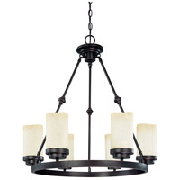 Nuvo Lighting Lucern 6 Light Chandelier in Patina Bronze 60/2764
