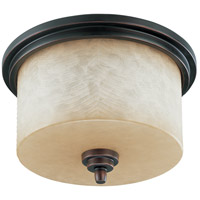 Nuvo Lighting Lucern 3 Light Flushmount in Patina Bronze 60/2767