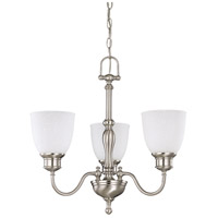 Bella 3 Light 21 inch Brushed Nickel Chandelier Ceiling Light