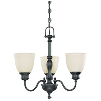 Bella 3 Light 21 inch Aged Bronze Chandelier Ceiling Light