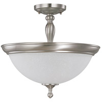 Bella 3 Light 16 inch Brushed Nickel Semi-Flush Ceiling Light