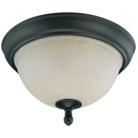 Bella 2 Light 11 inch Aged Bronze Flushmount Ceiling Light