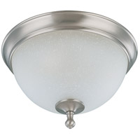 Bella 2 Light 14 inch Brushed Nickel Flushmount Ceiling Light