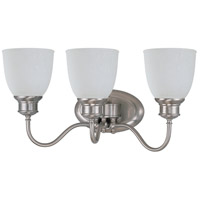 Bella 3 Light 21 inch Brushed Nickel Vanity & Wall Wall Light