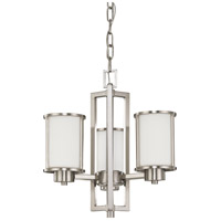 Nuvo 60/2851 Odeon 3 Light 18 inch Brushed Nickel Chandelier Ceiling Light