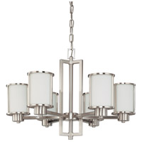 Nuvo 60/2853 Odeon 6 Light 28 inch Brushed Nickel Chandelier Ceiling Light