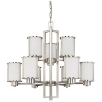 Nuvo 60/2855 Odeon 9 Light 30 inch Brushed Nickel Chandelier Ceiling Light
