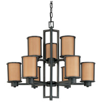 Nuvo Lighting Odeon 9 Light Chandelier in Aged Bronze 60/2856