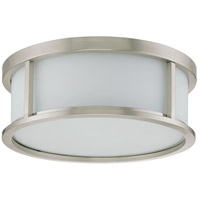 Odeon 3 Light 15 inch Brushed Nickel Flushmount Ceiling Light