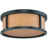 Nuvo 60/2865 Odeon 3 Light Aged Bronze Flushmount Ceiling Light photo thumbnail