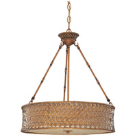 Nuvo Lighting Abbott 3 Light Pendant in Rustic Rattan 60/2882 photo thumbnail