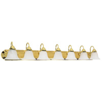 Nuvo 60/293 Ballerina 7 Light 48 inch Polished Brass Vanity Light Wall Light