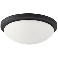 Nuvo Lighting Button 1 Light Flushmount in Textured Black 60/2943