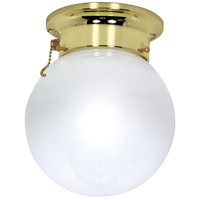 Nuvo Lighting Signature 1 Light Flushmount in Polished Brass 60/295