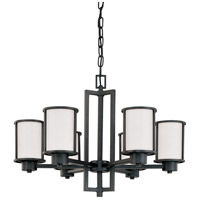 Nuvo 60/2975 Odeon 6 Light 28 inch Aged Bronze Chandelier Ceiling Light