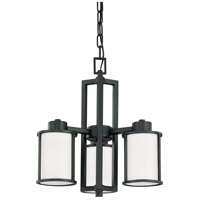 Nuvo 60/2976 Odeon 3 Light 18 inch Aged Bronze Chandelier Ceiling Light