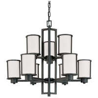 Nuvo 60/2979 Odeon 9 Light 30 inch Aged Bronze Chandelier Ceiling Light