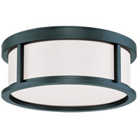 Odeon 2 Light 13 inch Aged Bronze Flush Mount Ceiling Light