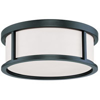 Odeon 3 Light 15 inch Aged Bronze Flush Mount Ceiling Light