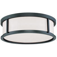 Odeon 3 Light 17 inch Aged Bronze Flush Mount Ceiling Light