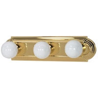 Nuvo 60/308 Signature 3 Light 18 inch Polished Brass Vanity & Wall Wall Light