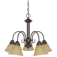 Ballerina 5 Light 24 inch Mahogany Bronze Chandelier Ceiling Light