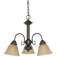 Ballerina 3 Light 20 inch Mahogany Bronze Chandelier Ceiling Light