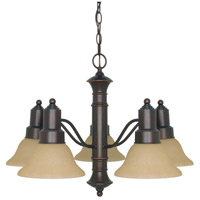 Nuvo 60/3103 Gotham 5 Light 25 inch Mahogany Bronze Chandelier Ceiling Light photo thumbnail