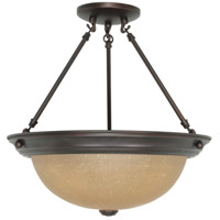 Nuvo 60/3111 Signature 3 Light 15 inch Mahogany Bronze Semi-Flush Ceiling Light photo thumbnail