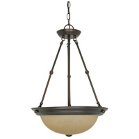 Signature 3 Light 15 inch Mahogany Bronze Pendant Ceiling Light