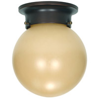 Nuvo 60/3114 Signature 1 Light 6 inch Mahogany Bronze Flushmount Ceiling Light photo thumbnail