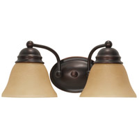 Empire 2 Light 15 inch Mahogany Bronze Vanity & Wall Wall Light